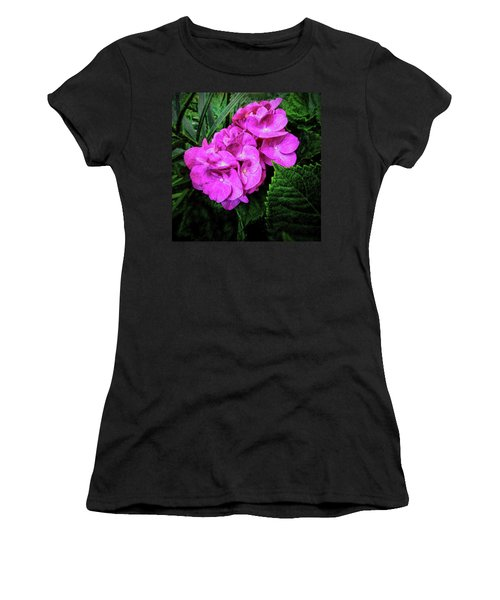 Painted Hydrangea Women's T-Shirt (Athletic Fit)