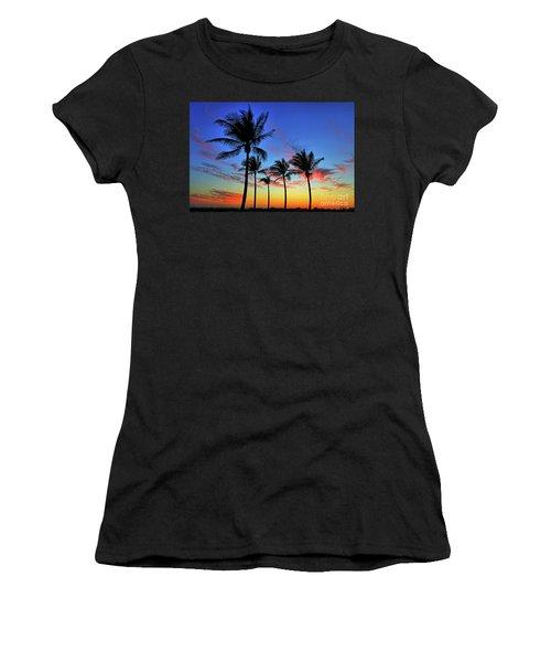 Women's T-Shirt (Junior Cut) featuring the photograph Palm Tree Skies by Scott Mahon