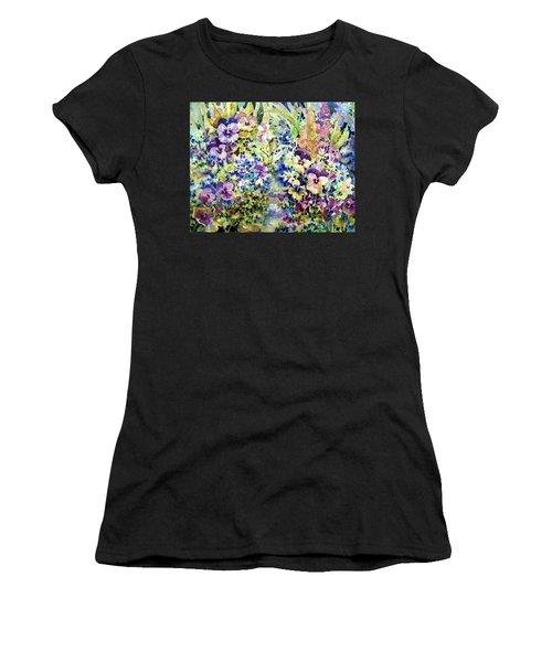 Pansy Path Women's T-Shirt