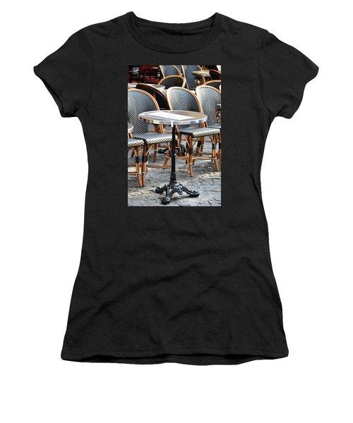 Parisian Cafe Terrace Women's T-Shirt (Athletic Fit)