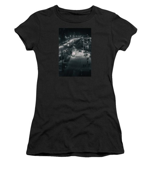 People At Night From Arerial View Women's T-Shirt