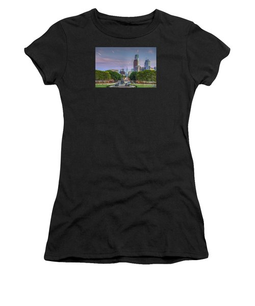 Philadelphia Cityscape Women's T-Shirt (Athletic Fit)