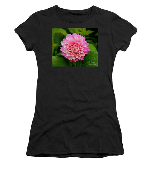 Pink And White Women's T-Shirt (Athletic Fit)