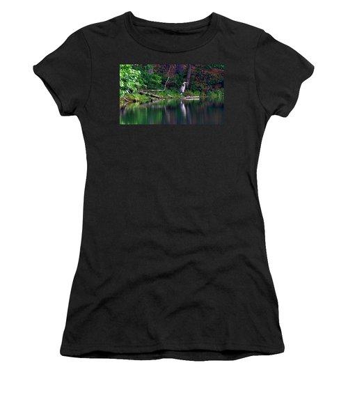 Posing Great Blue Heron  Women's T-Shirt