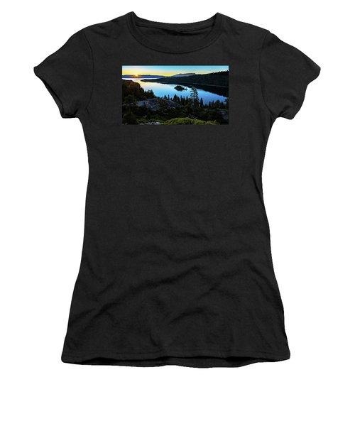 Radiant Sunrise On Emerald Bay Women's T-Shirt
