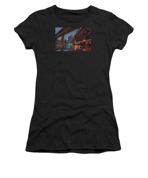Rainy Night In Detroit  Women's T-Shirt (Athletic Fit)