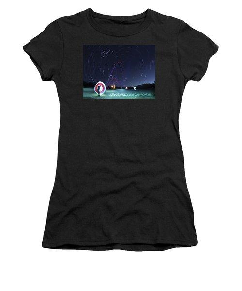 Real Golfers Even Golf At Night Women's T-Shirt