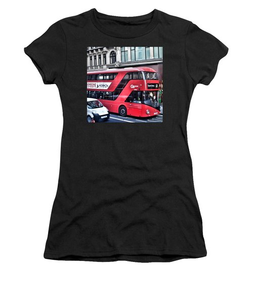 Red Bus In London  Women's T-Shirt