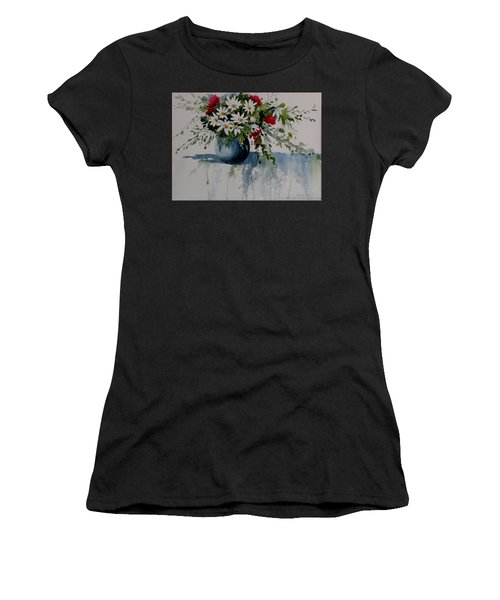 Red White And Blue Bouquet Women's T-Shirt (Athletic Fit)