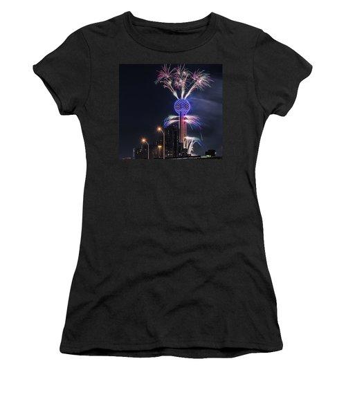 Reunion Tower Fireworks Women's T-Shirt