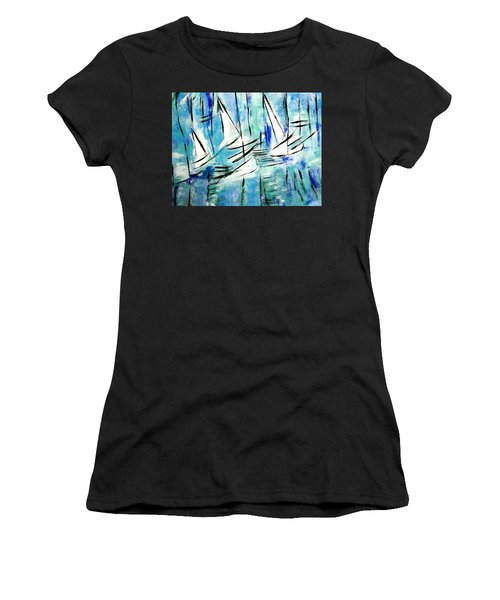 Sailing Blue Women's T-Shirt (Athletic Fit)