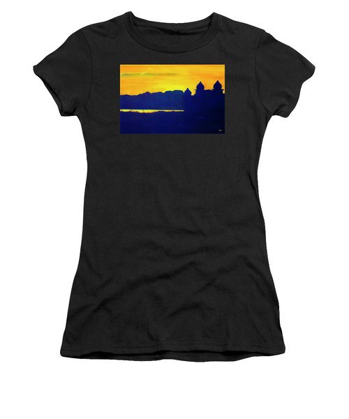 Saltair Sunset Women's T-Shirt (Athletic Fit)