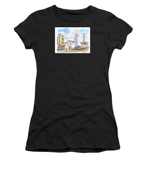 Santa Cruz Mission, Santa Cruz, California Women's T-Shirt