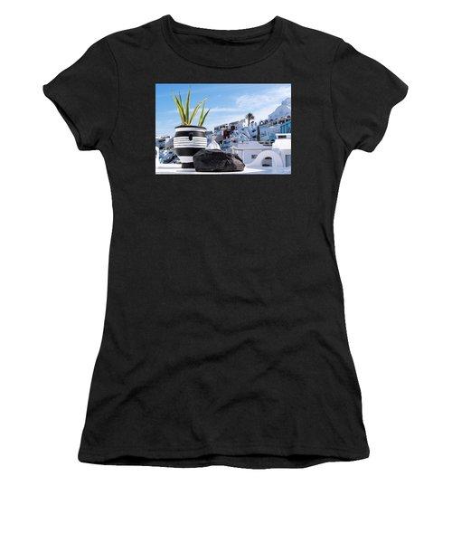 Santorini - Greece Women's T-Shirt (Athletic Fit)