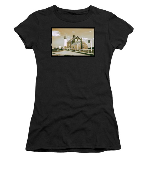 Scituate Lighthouse In Scituate, Ma Women's T-Shirt (Junior Cut) by Peter Ciro