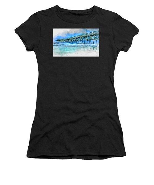 Sea Blue - Cherry Grove Pier Women's T-Shirt