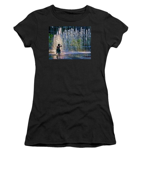 Women's T-Shirt (Junior Cut) featuring the photograph Should I? by Rhonda McDougall
