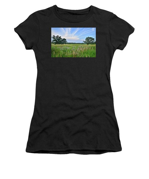 Silver Creek Conservation Area Sunset Women's T-Shirt (Athletic Fit)