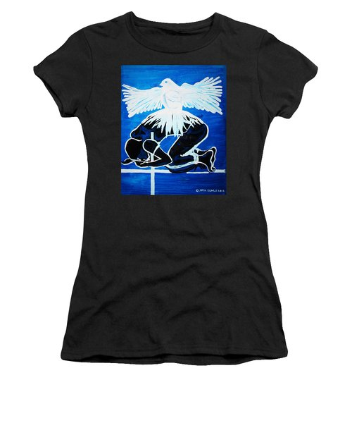Slain In The Holy Spirit Women's T-Shirt (Athletic Fit)