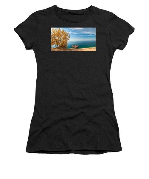 Sleeping Bear Overlook Women's T-Shirt (Athletic Fit)