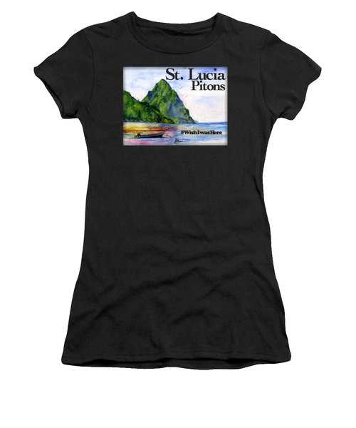 St. Lucia Women's T-Shirt (Athletic Fit)
