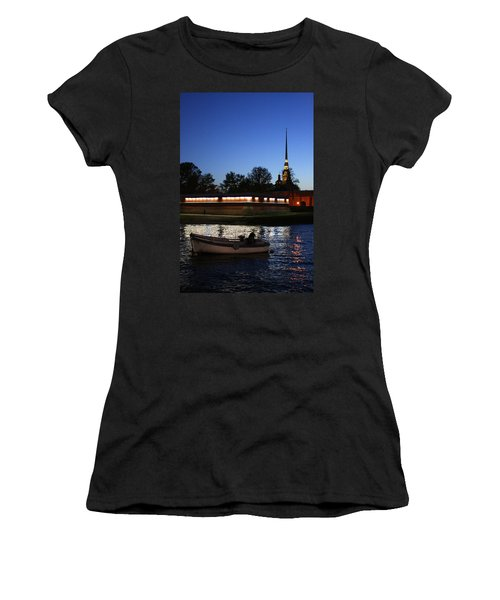 St.petersburg At Night Women's T-Shirt (Athletic Fit)