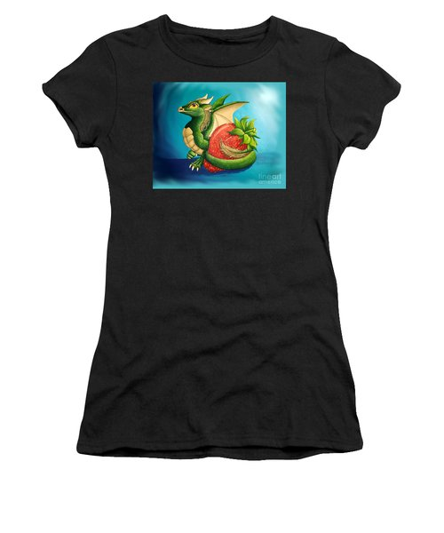 Strawberry Dragon Women's T-Shirt (Athletic Fit)