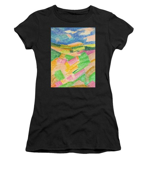 Summer Fields  Women's T-Shirt (Athletic Fit)