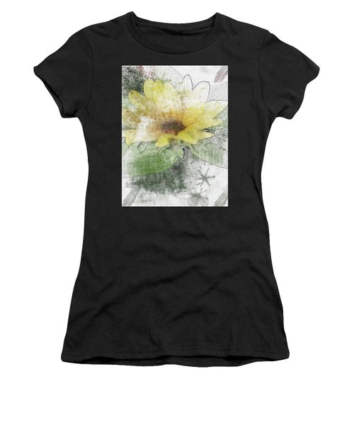 Women's T-Shirt featuring the digital art Sunflower Canvas by Richard Ricci