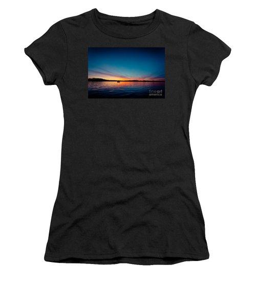 Sunrise Above Lake Water Summer Time Latvia Ezera Skanas Women's T-Shirt