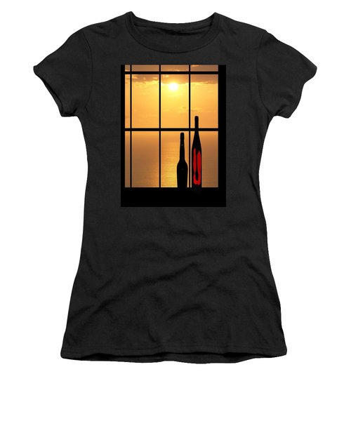 Women's T-Shirt (Junior Cut) featuring the photograph Sunset In Hawaii by Athala Carole Bruckner