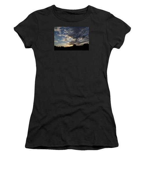 Sunset On Hunton Lane #1 Women's T-Shirt (Junior Cut) by Carlee Ojeda