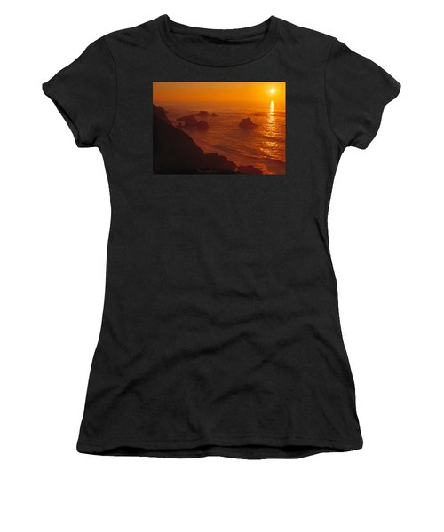 Sunset Over The Pacific Ocean Women's T-Shirt (Junior Cut) by Utah Images