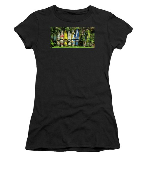 Surfboard Fence Maui Hawaii Women's T-Shirt (Athletic Fit)
