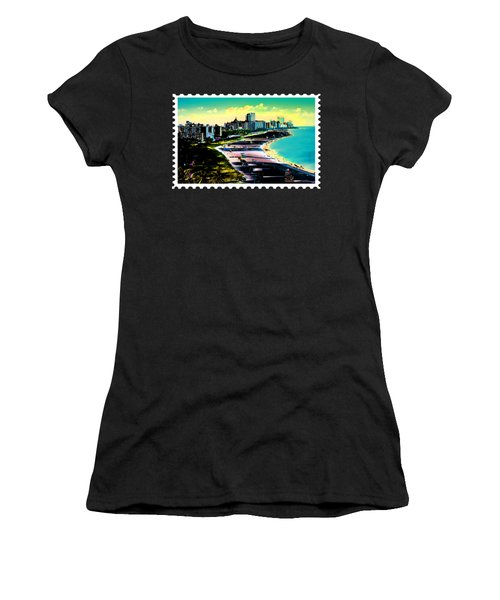 Surreal Colors Of Miami Beach Florida Women's T-Shirt