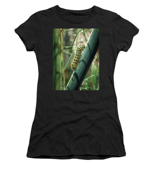 Swallowtail Caterpillar Women's T-Shirt (Athletic Fit)