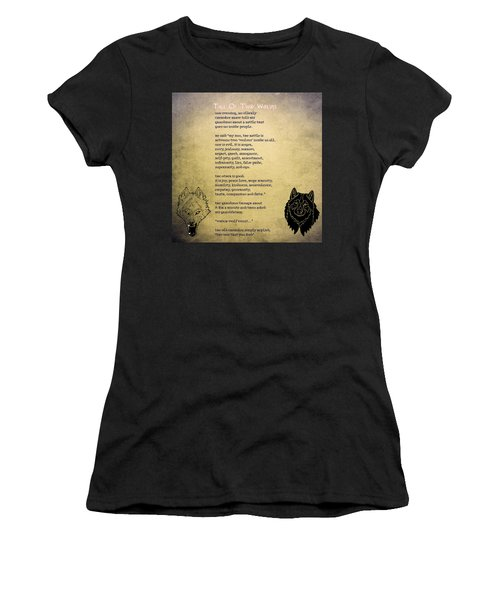 Tale Of Two Wolves - Art Of Stories Women's T-Shirt