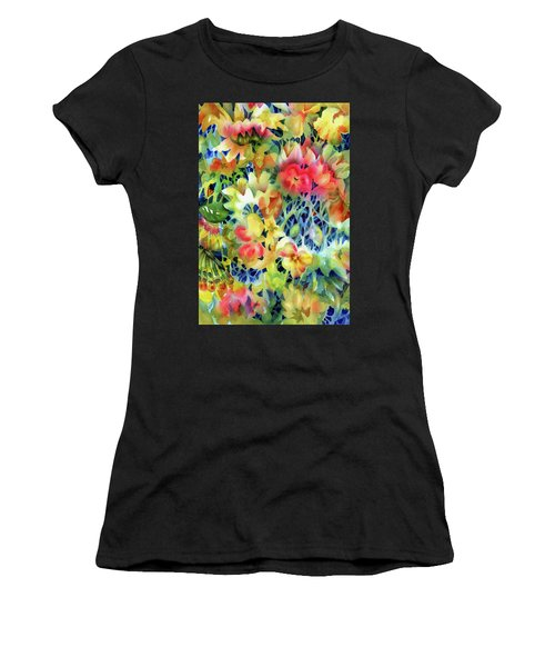Tangled Blooms Women's T-Shirt (Athletic Fit)