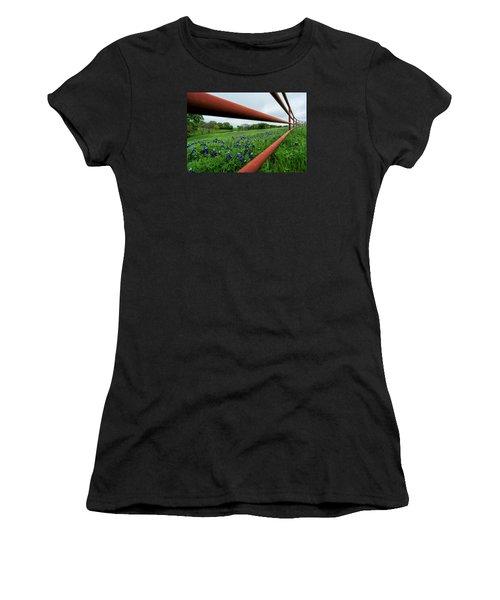 Texas Bluebonnets In Ennis Women's T-Shirt