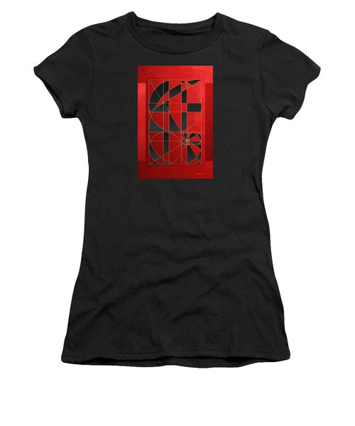 The Alchemy - Divine Proportions - Black On Red Women's T-Shirt