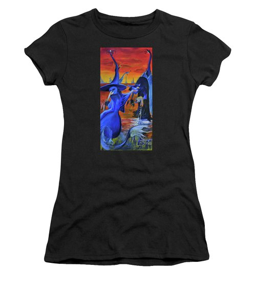 The Cat And The Witch Women's T-Shirt (Athletic Fit)