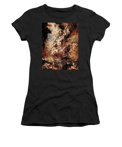 The Fall Of The Damned Women's T-Shirt (Junior Cut) by Peter Paul Rubens