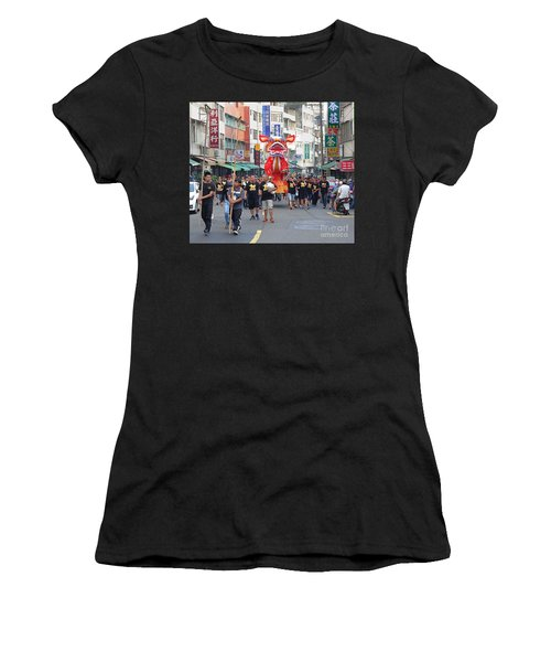 The Fire Lion Procession In Southern Taiwan Women's T-Shirt