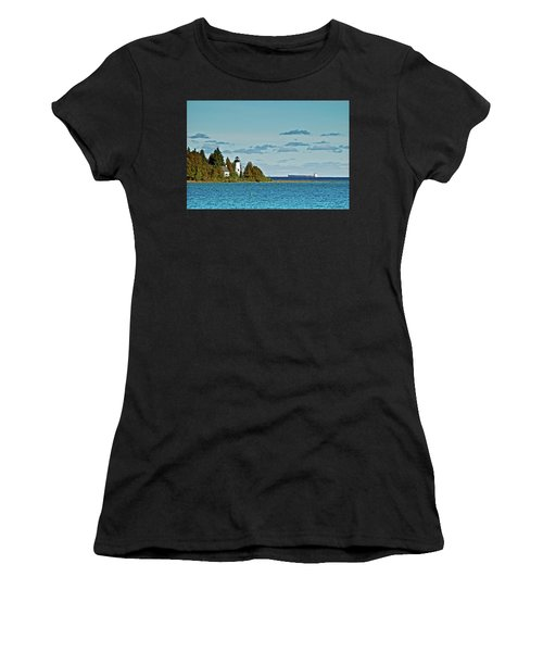 The Old Presque Isle Lighthouse Women's T-Shirt (Athletic Fit)