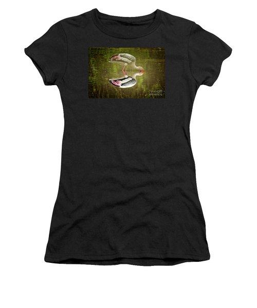 The Painted Stork  Mycteria Leucocephala  Women's T-Shirt (Athletic Fit)