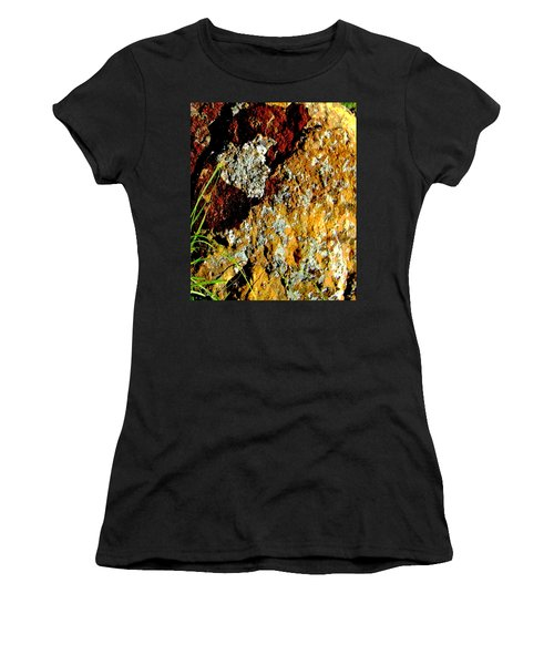 Women's T-Shirt (Junior Cut) featuring the photograph The Rock by Lenore Senior