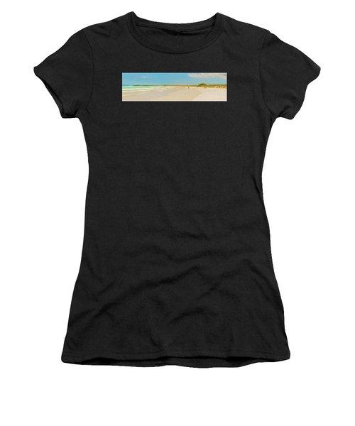 Tortuga Bay Beach At Santa Cruz Island In Galapagos  Women's T-Shirt (Athletic Fit)