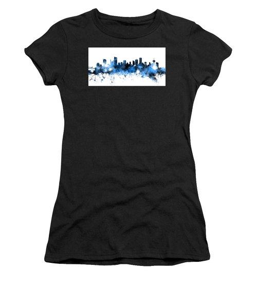 Vancouver Canada Skyline Panoramic Women's T-Shirt