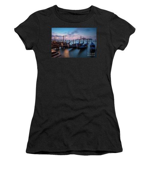 Women's T-Shirt (Junior Cut) featuring the photograph Venice Dawn by Brian Jannsen