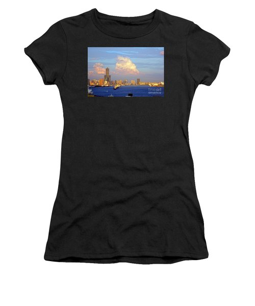 View Of Kaohsiung City At Sunset Time Women's T-Shirt